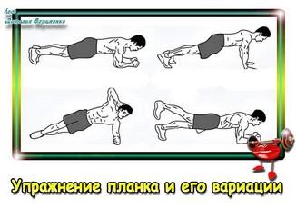 Статическое упражнение для пресса планка