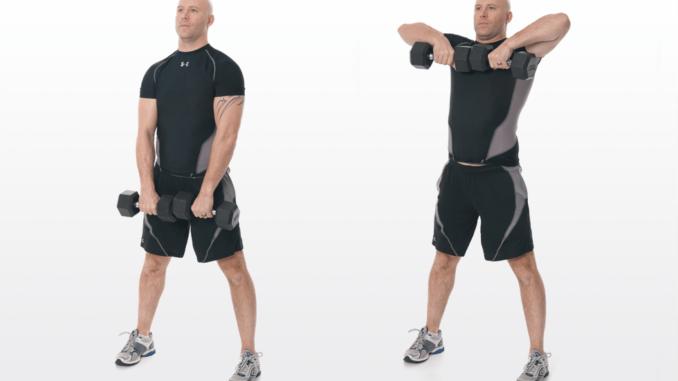 Упражнения на спину с гантелями