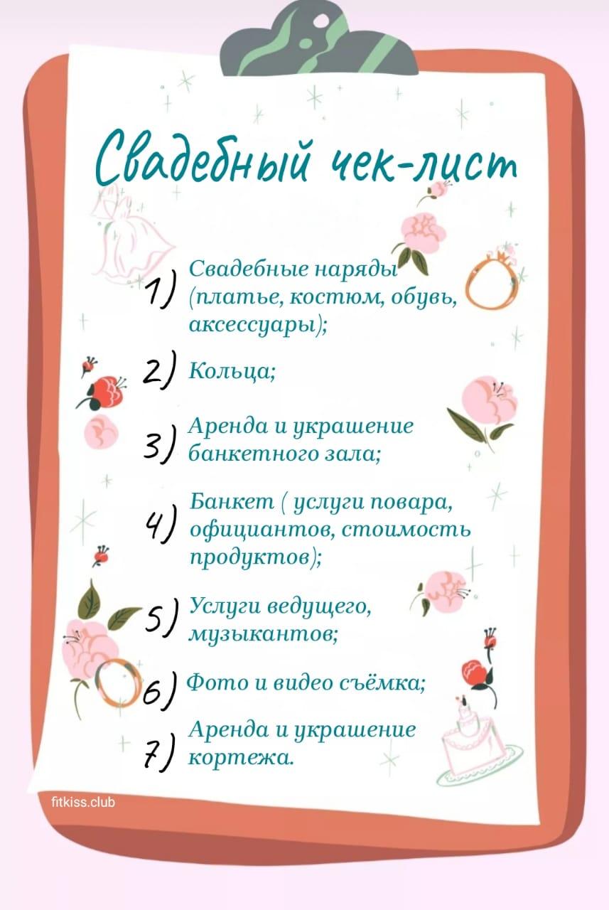 Свадебный список